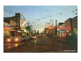 Evening in Tijuana, Mexico, Fifties Prints