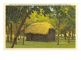 Cabaña reconstruida, Isla Roanoake, Carolina del Norte Imágenes