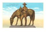 Range Rider Statue, Billings, Montana Poster