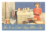 Happy Mothers Day, Mom in Kitchen Posters