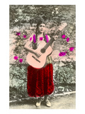 Senorita with Guitar Prints