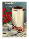 Party-Perk Coffee Urn, Retro Prints