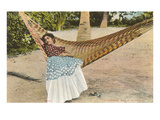 Woman in Hammock, Tehuantepec, Mexico Prints