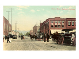 Second Street, Kalispell, Montana Posters