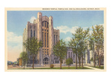 Masonic Temple, Detroit, Michigan Posters