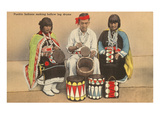Pueblo Indians Making Drums, New Mexico Prints