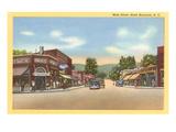 Main Street, Black Mountain, North Carolina Print