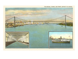 Bridge, Tunnel, Ferry, Detroit, Michigan Print
