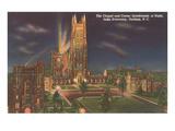 Night, Duke University, Durham, North Carolina Prints