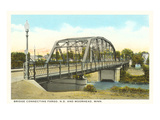 Bridge at Moorhead, Minnesota Prints