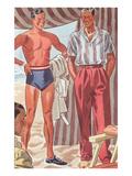 Men Modeling Clothes Art