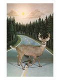 Deer in Headlights, Retro Art