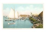 Boats off Coronado, San Diego, California Poster