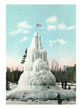 Frozen Lakewood Fountain, Duluth, Minnesota Print