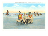 Bathers, Carolina Beach, Wilmington, North Carolina Posters