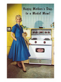 Happy Mothers Day to a Model Mom, with Stove Poster