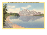 Red Eagle Mountain, Glacier Park, Montana Prints