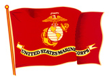 Marine Corps Flag Posters