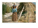 Havasupai Woman with Child in Basket, Arizona Poster