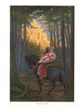 Scène tirée de «Perceval le Gallois» Affiches