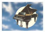 Piano Floating in Space Prints