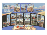 Greetings from Avon-by-the-Sea, New Jersey Poster
