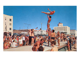 Venice Beach Muscle Men, Retro Prints