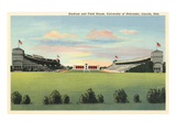 Athletic Field, University of Nebraska Giclée-Premiumdruck