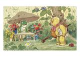 Frog Flower Seller and Bear Cellist Prints