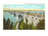 Belle Isle Bridge, Detroit, Michigan Prints