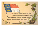 North Carolina Flag and Poem Prints