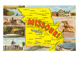 Map of Missouri Poster