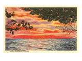 Sunset on Lake, Northern Michigan Poster