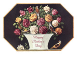 Happy Mother's Day, Urn of Roses Art
