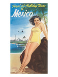 Travel Poster of Mexican Beach Prints