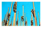 Military Men on Poles, Retro Posters