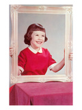 Girl with Picture Frame Prints