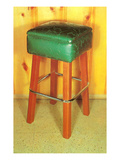 Bar Stool, Retro Prints