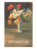 Happy Mother's Day, Vase with Flowers Posters