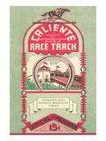 Program from Caliente Racetrack Plakaty