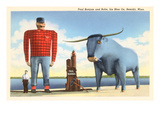 Paul Bunyan and Babe, Bemidji, Minnesota Posters