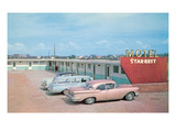 Bleak Motel Star-Rest, Retro Posters