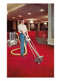 Carpet Cleaning in the Hotel Print