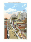 Nicollet Avenue, Minneapolis, Minnesota Posters