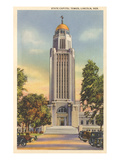 State Capitol Tower, Lincoln, Nebraska Kunstdruck
