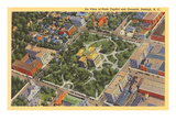 Aerial View, State Capitol, Raleigh, North Carolina Premium Giclee Print
