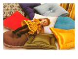 Doll on Pillows, Retro Prints
