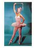 Ballerine en rose, rétro Affiches