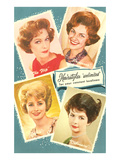 Fifties Hairstyles Kunstdrucke