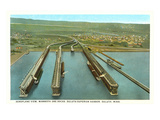 Iron Ore Docks, Duluth Harbor, Minnesota Kunstdruck